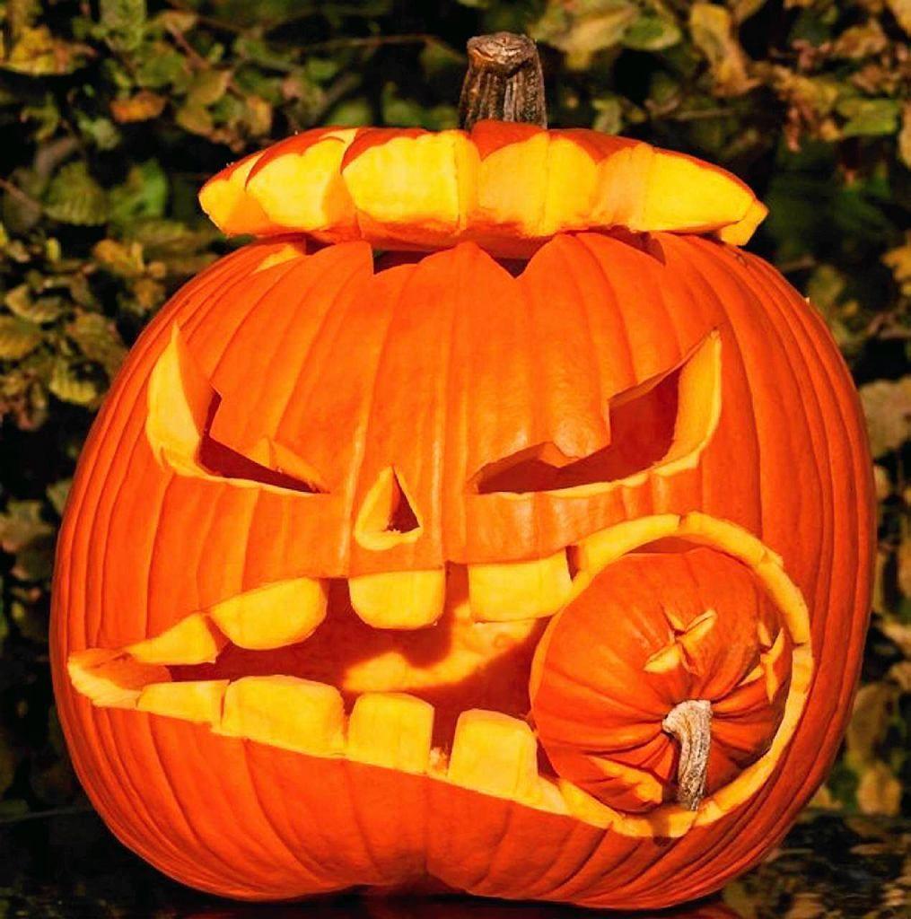 Halloween. Dyniowe lampiony i rzeźby Halloween, Dynie