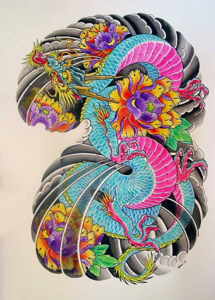Dragon Tattoo Flash By Terokiiskinen On Deviantart Japanese Dragon Tattoos Japanese Dragon Tattoo Japanese Tattoo