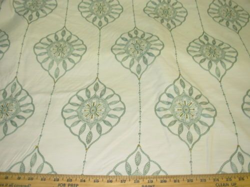 4-4-8-YDS-MEDALLIONS-BEAUTIFUL-EMBROIDERED-COTTON-UPHOLSTERY-FABRIC-FOR-LESS