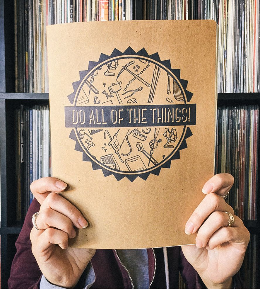 Do All of the Things Letterpress Notebook by Triple Threat Press on Scoutmob