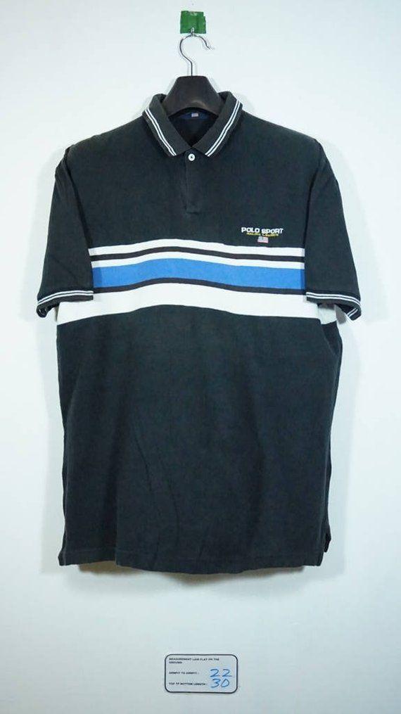 ddeea4cd941 Vintage 90s polo Sport ralph lauren spellout shirt Size Large L stadium p  wing bear ski beach snow k