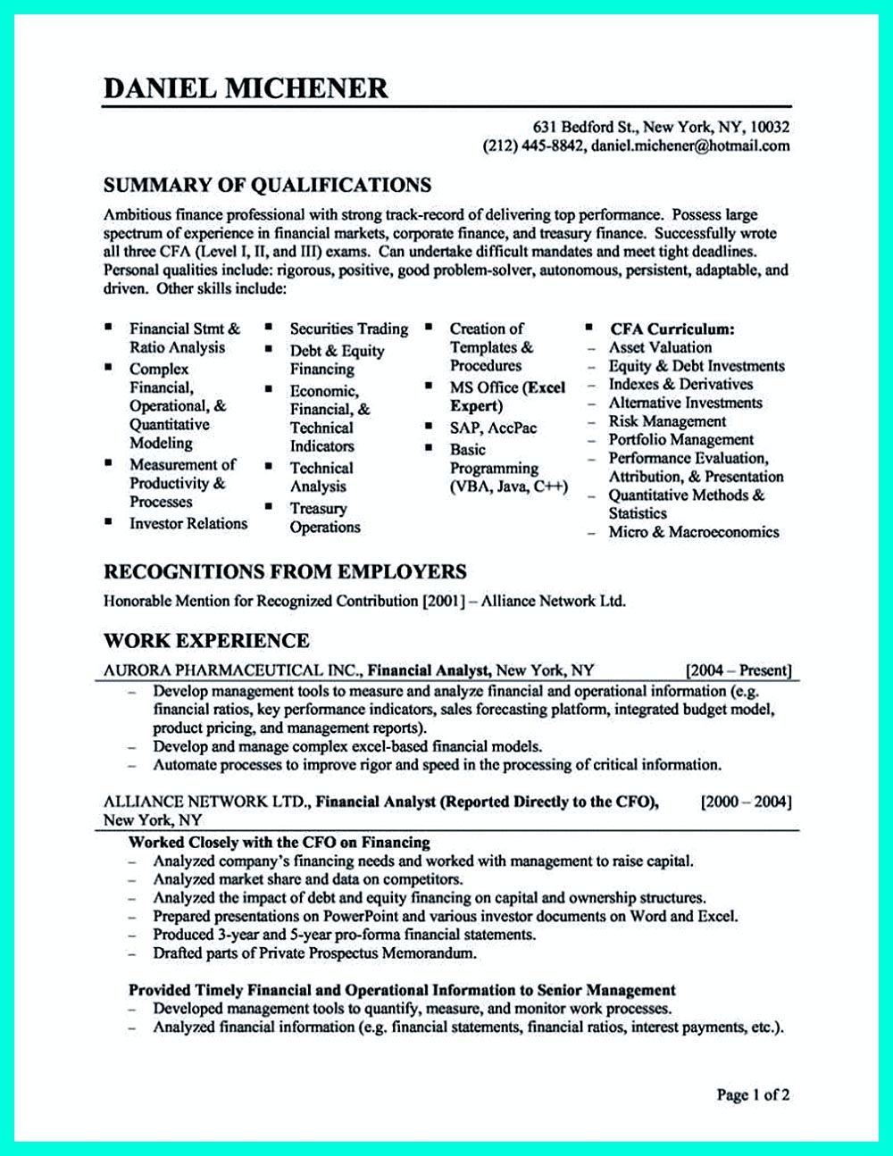 Skills And Abilities On A Resume Data Analyst Resume Will Describe Your Professional Profile