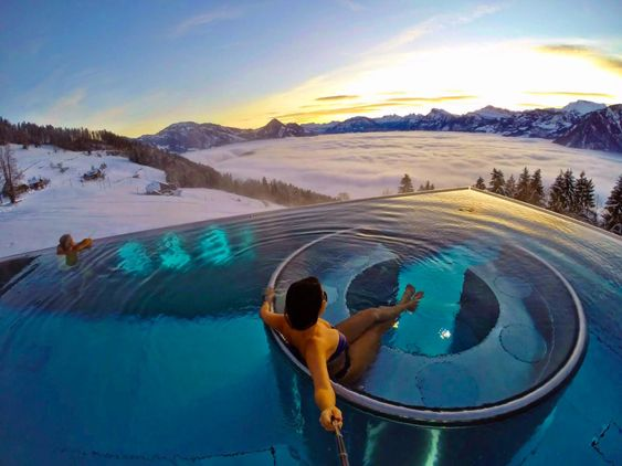 villa honegg lucerna luzern suiça luxo melhor hotel onde ficar lago vista montanha piscina aquecida cinema alpes neve