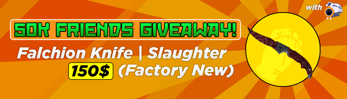 falchion knife slaughter factory new csgo giveaway 150 value