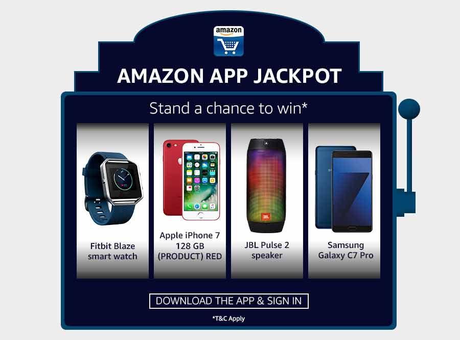 Amazon app jackpot download and win Iphone 7 Jackpot