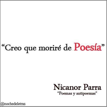 Nicanor Parra Nicanor Parra Versos Poemas