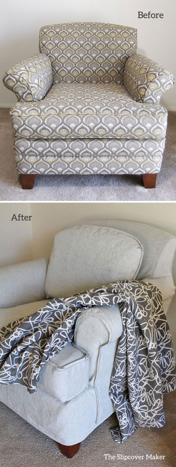Simple Canvas Slipcover With a Twist Slipcovers, Custom