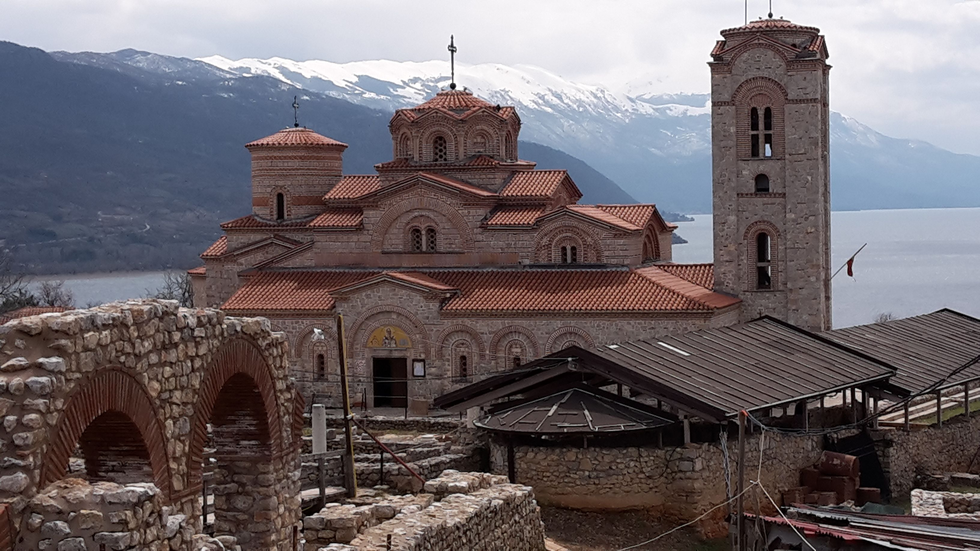 Plaošnik is an archaeological site and holy place in Ohrid, The church was built by St.Clement in 893 year on the … | Building, Early christian, Archaeological site