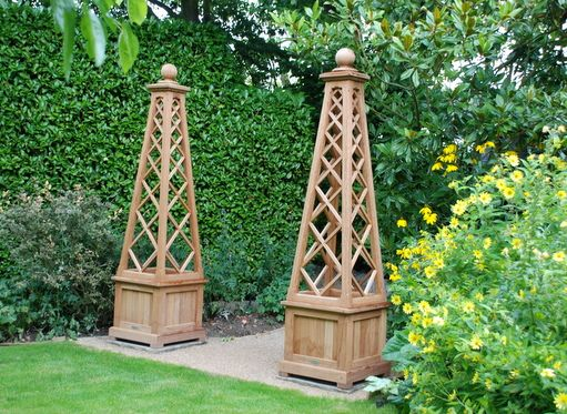 images about Garden Obelisk on Pinterest Gardens Planters