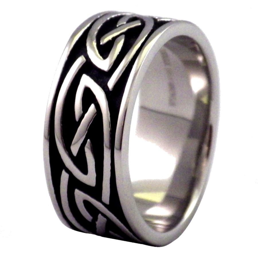 Black And Steel Celtic Knot Ring Wedding Band Wish List Celtic
