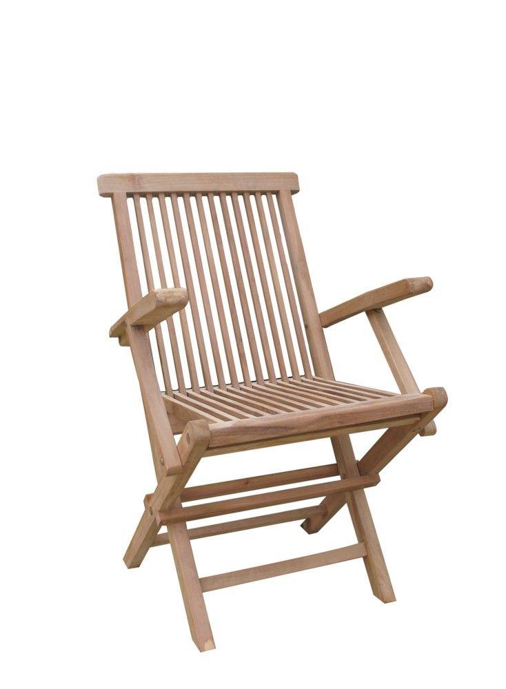 silla terraza plegable con reposabrazos
