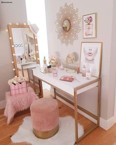Photo of Make-up tafel  – #lippenstift #Makeup #tafel Workspace & Off…