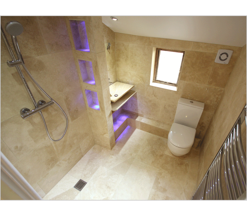 Wet Floors Make Smaller Rooms Feel Much Larger This Shower Room Has