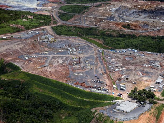 This is the construction of Belo Monte hydroeletric dam in Pará - Brazil. This place once was beautiful.