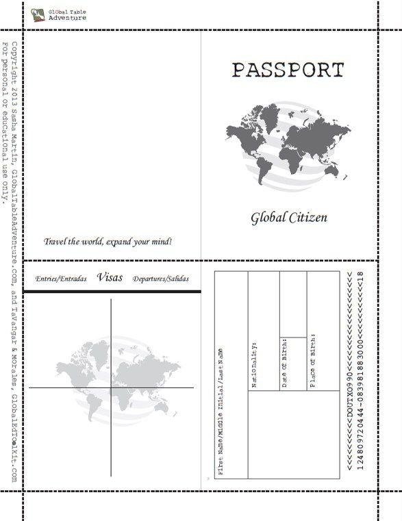 Let s be friends room mom fun pinterest passport for Fun passport template