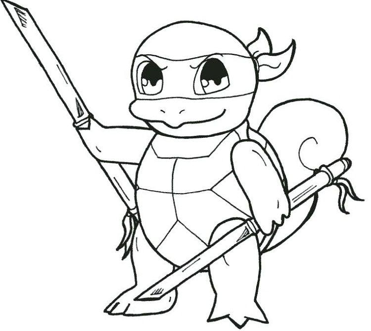 Baby Ninja Turtles Coloring Pages Turtle Coloring Pages Ninja Turtle Coloring Pages Pokemon Coloring