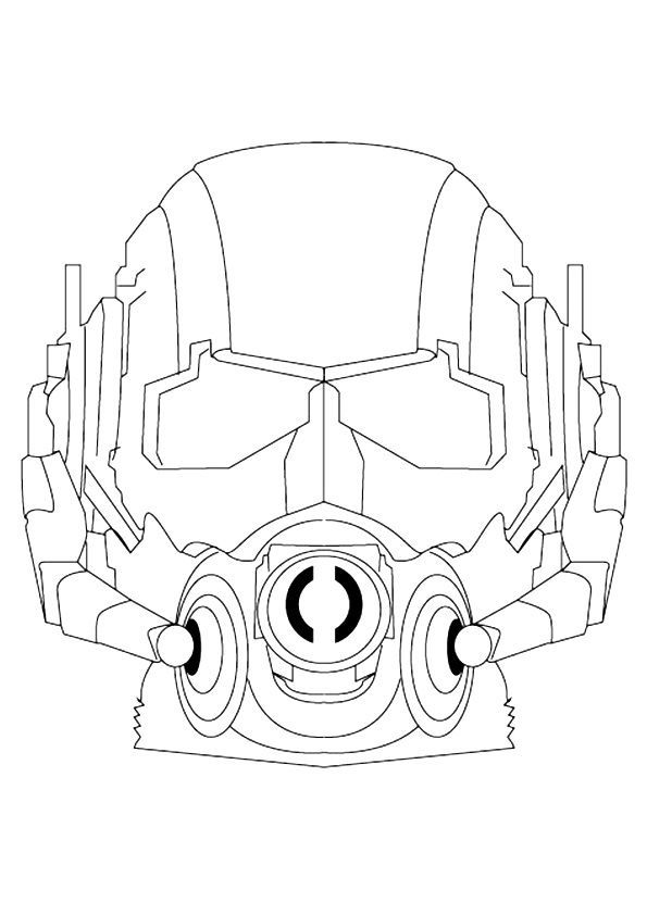 Ant Man Face Coloring Page Also See The Category To Read More