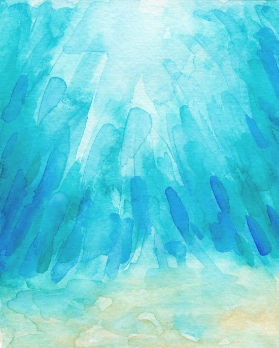 Under The Sea Watercolor Print By Hello Monday Design Inspired