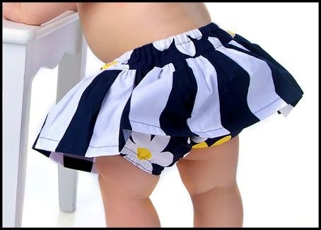 How to Sew a Skirted Diaper Cover