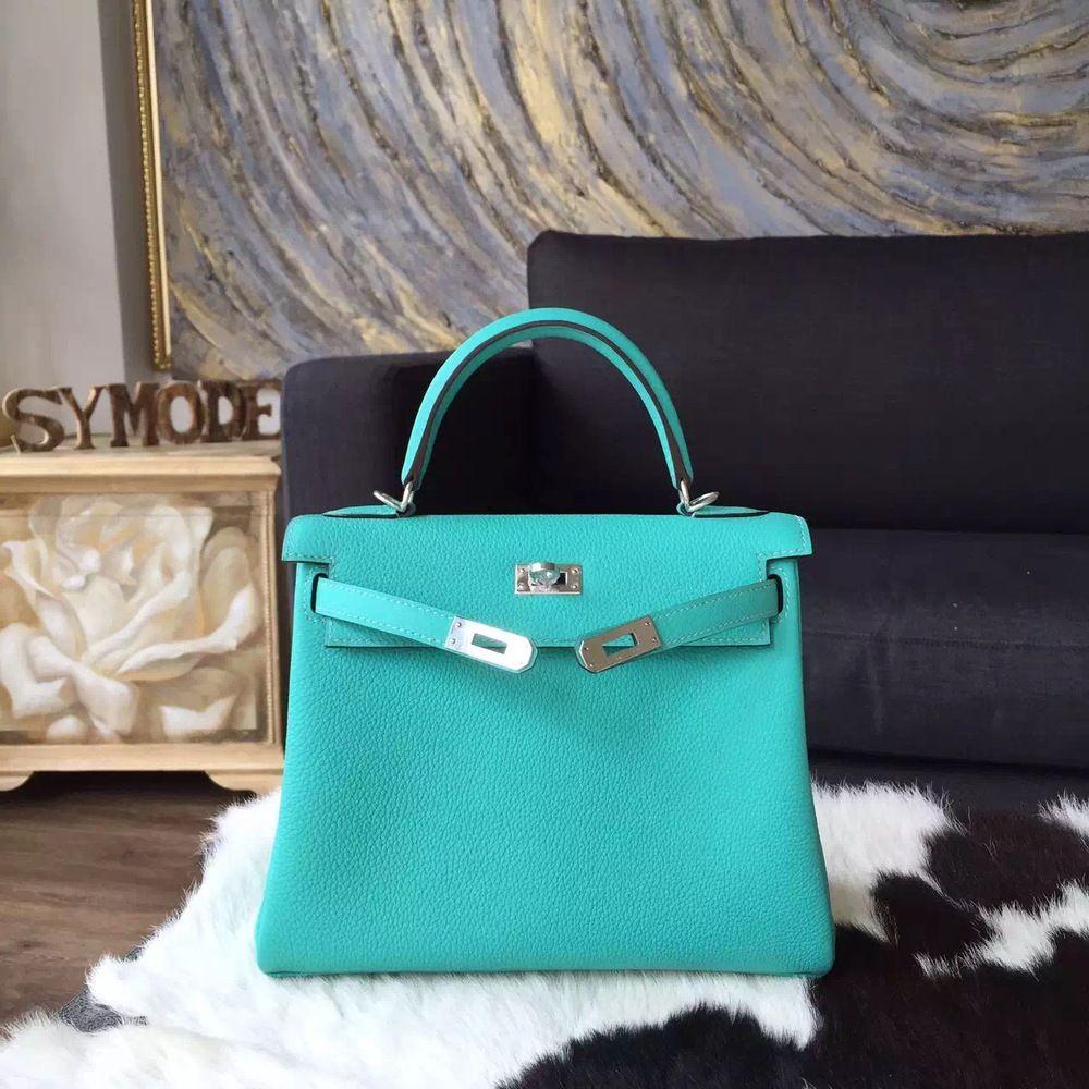 23b76f54a0ea Hermes Kelly 28cm Togo Calfskin Bag Handstitched Palladium Hardware ...
