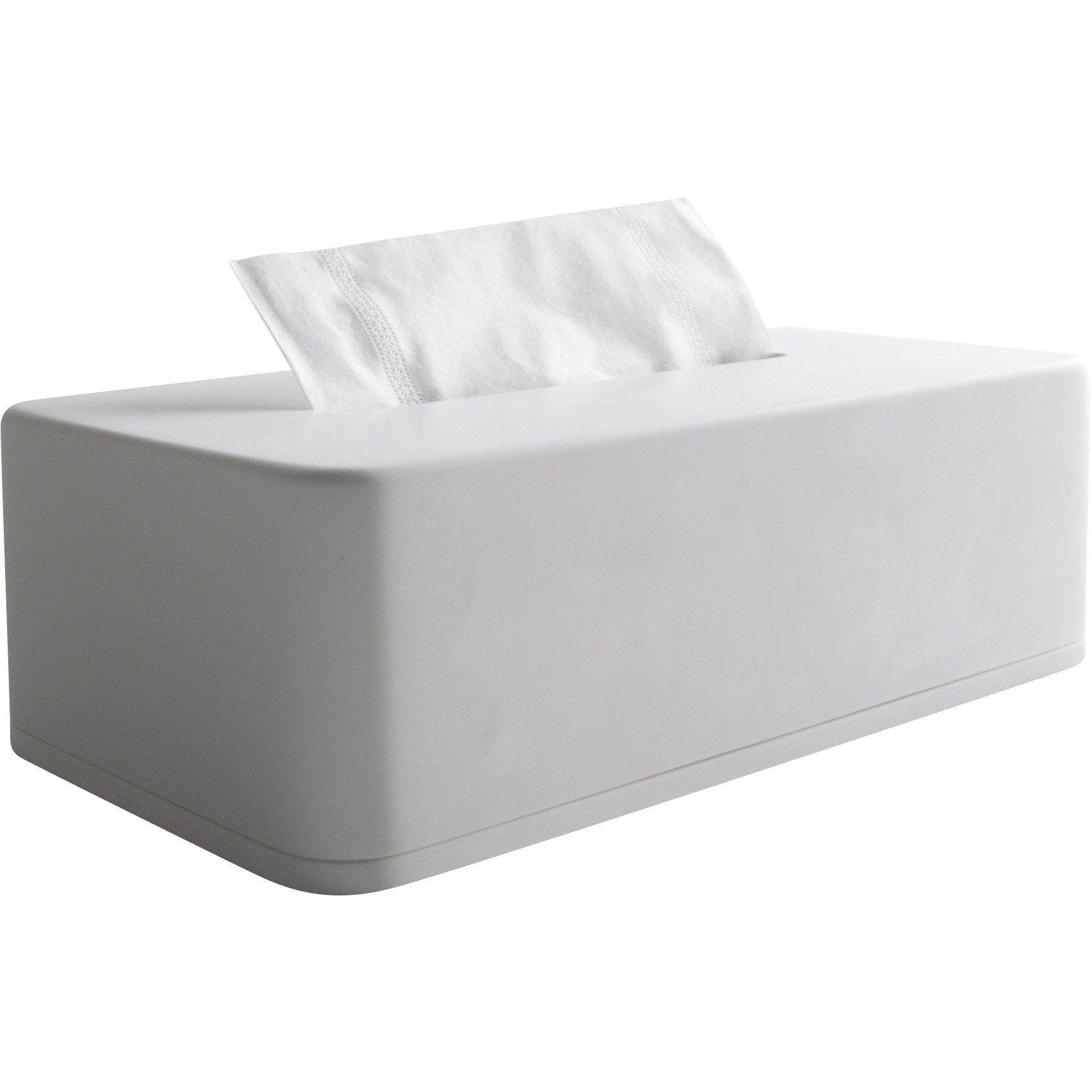 Home Decor Wood Plastic Tissue Box Solid Napkin Case Simple Multi-purpose