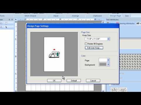 Brother Pe Design Plus Exploring The Design Page Settings Tutorial Machine Embroidery Designs Brother Pe Design Machine Embroidery Patterns