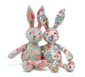 Wonderful rabbits from Liberty fabric!!!
