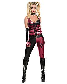 Arkham Harley Quinn Top Pant Set Costume | Halloweentown: Costumes ...