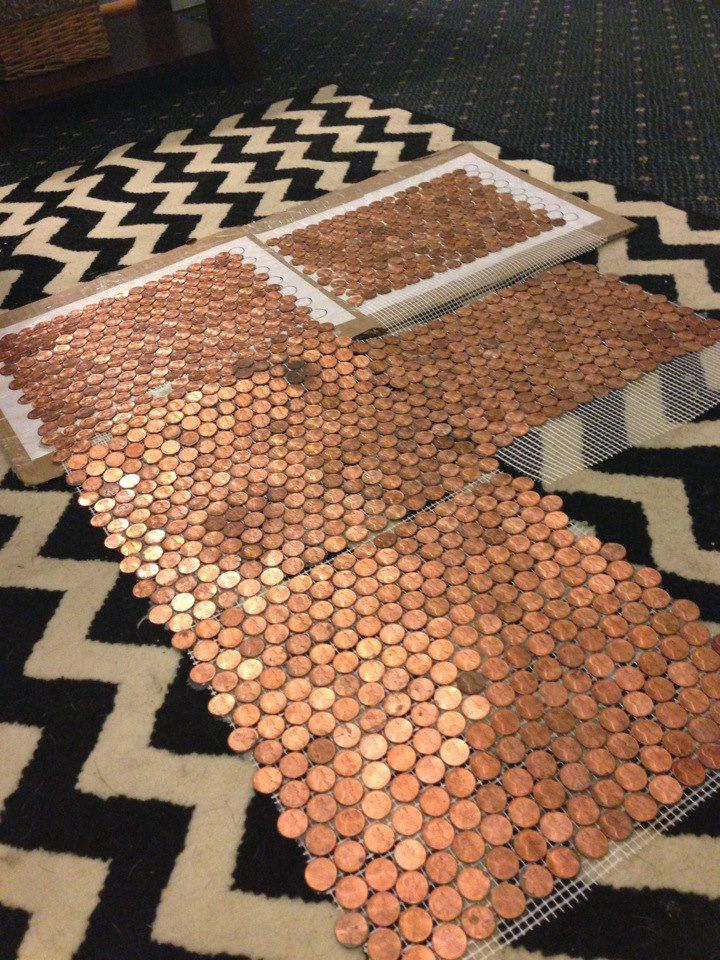 Make a Floor Out of REAL Pennies Pennies