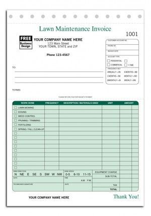 Lawn Service Invoice 123 Lawn Maintenance Invoice Form  Work  Pinterest  Lawn Care .
