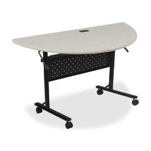 Lorell Flipper Table Round XX Silver By Lorell - Lorell flipper training table