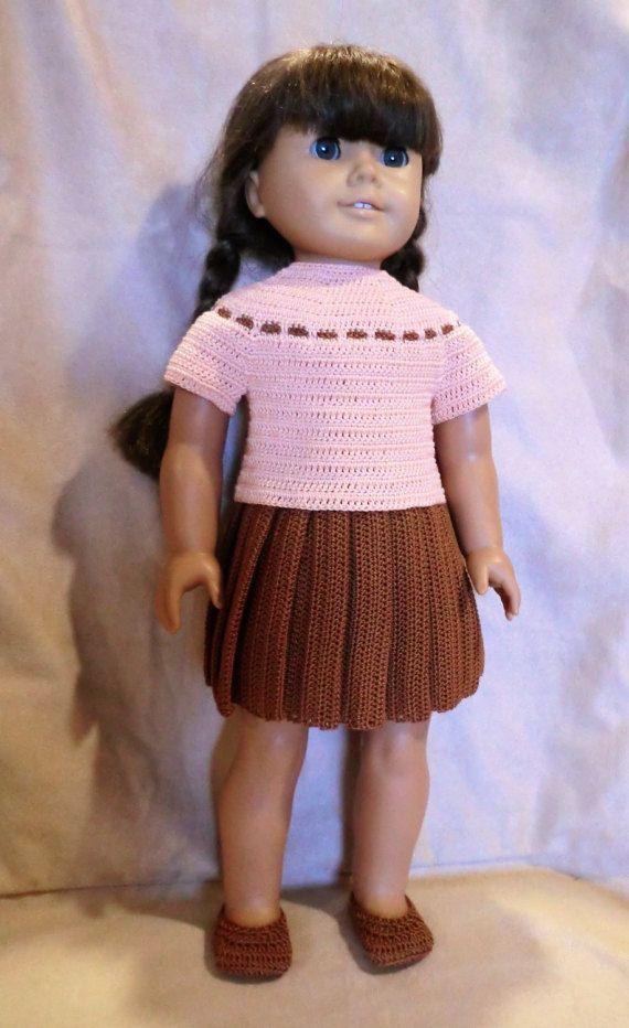 Ag 249 Pleated Skirt Set Crochet Pattern For By Barbsdolls Crochet