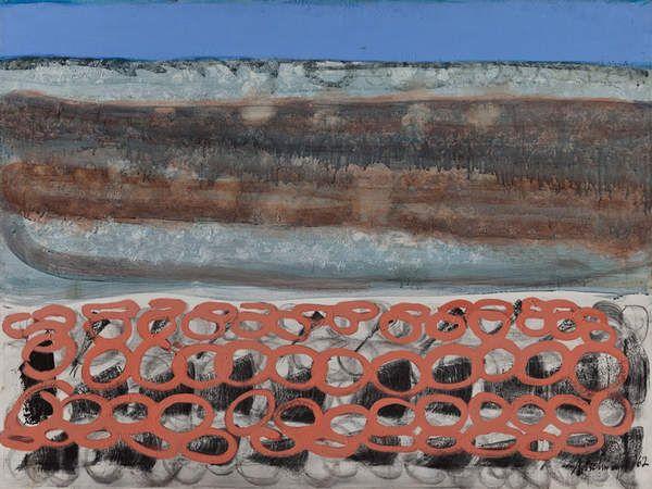 Richard Artschwager Untitled 1962 Acrylic on canvas. 45 1/2 x 61 in. (115.6 x 154.9 cm). Collection of Mrs. David Hermelin. © Richard Artschwager. Photo credit: Tim Thayer.