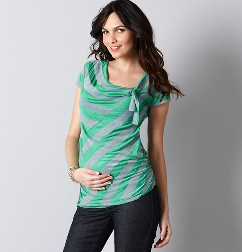 Loft Maternity Stripe Nursing Top