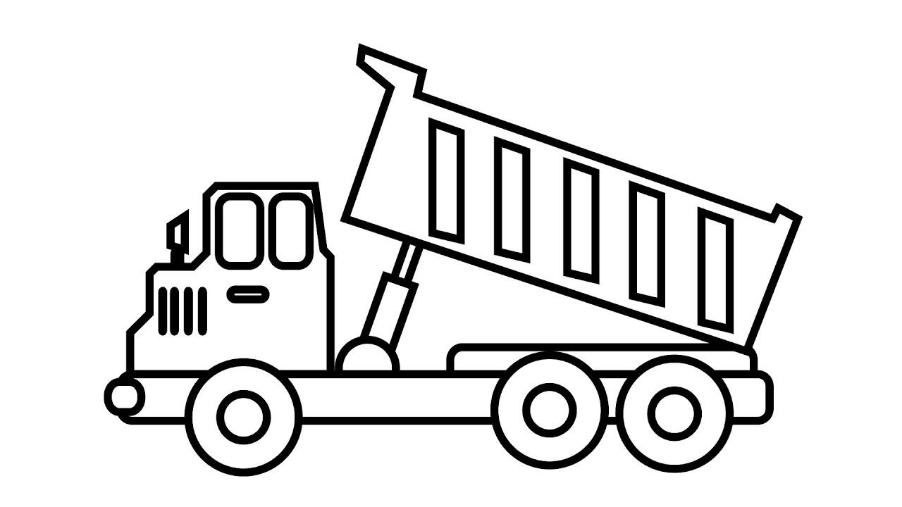 truck and trailer coloring pages in 2020 | Truck coloring ...