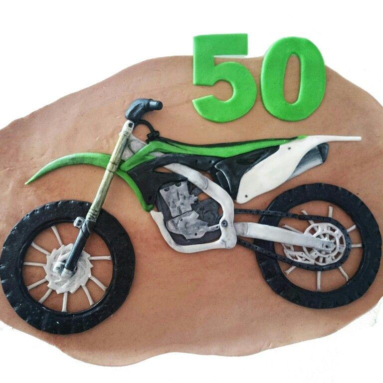 Decoración fondant motocross