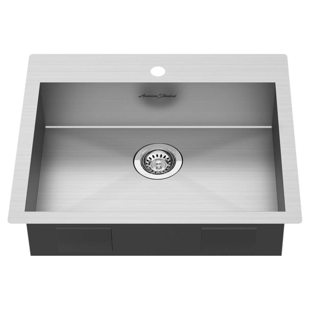 Edgewater 25x22 Ada Single Bowl Stainless Steel Kitchen Sink American Standard Stainless Steel Kitchen Sink Sink Stainless Steel Kitchen