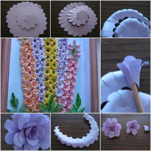 How To Make Beautiful Quilling Paper Flower Wall Art Paper Flowers