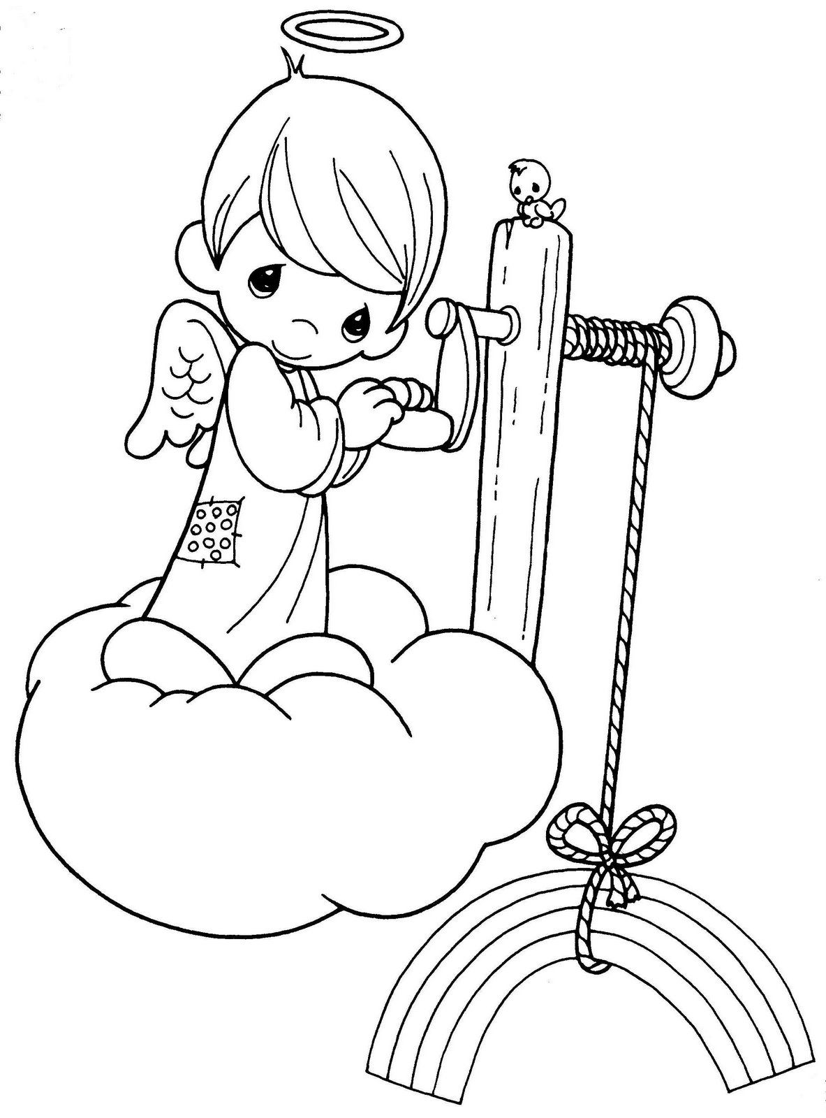 Precious Moments Angels Coloring Pages | para colorear de preciosos ...