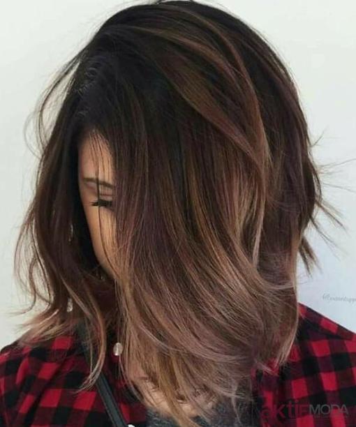 Kahverengi Balyaj Sac Modelleri 2019 Balayage Frisuren Haarfarben