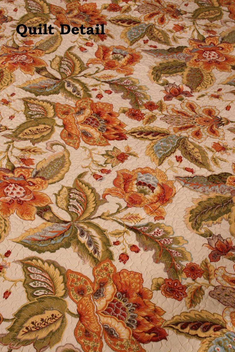 Amelia French Country Jacobean Cotton Quilt Throw   Quilt Ideas ... : jacobean quilt - Adamdwight.com