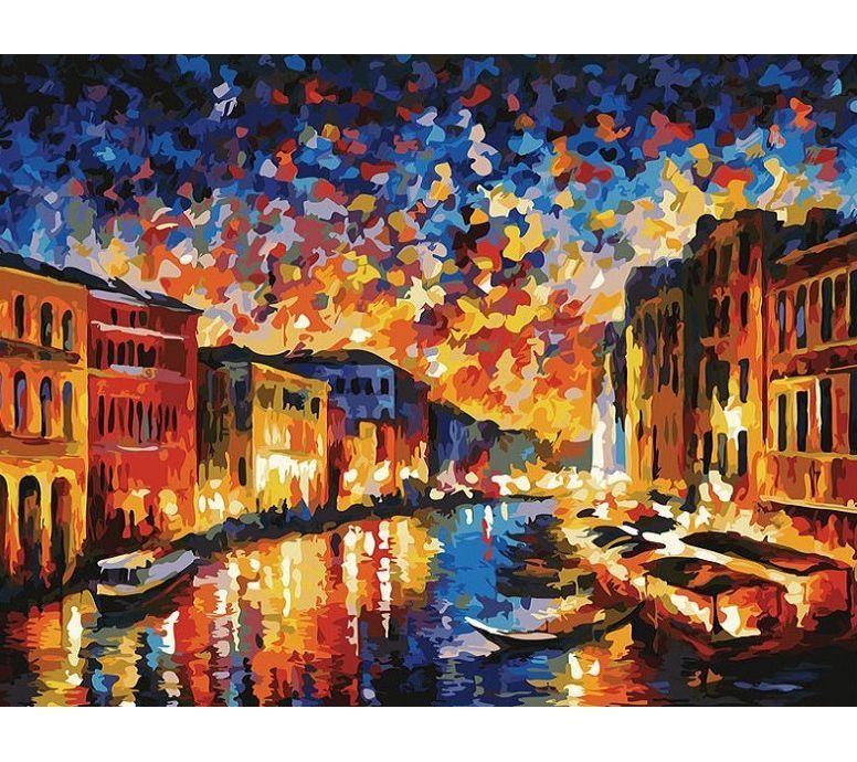 """Раскраска по номерам Белоснежка """"Гранд-Канал Венеция ..."""