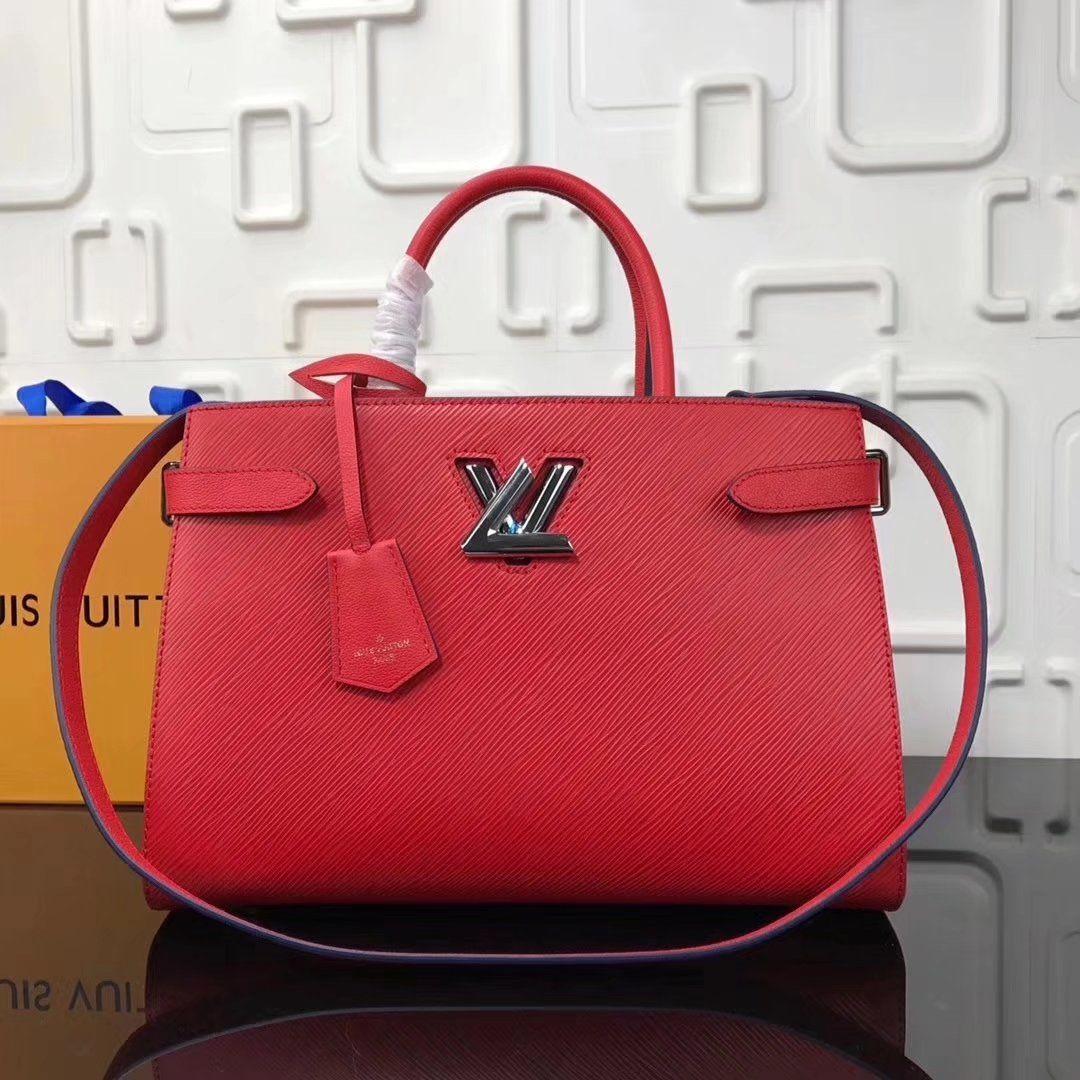 72f2413e7cdb Replica Louis Vuitton Indigo Twist Tote Epi Leather M54811 Coquelicot  ID 36021