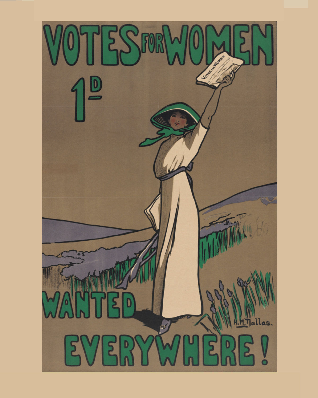 Vintage Suffrage Poster Votes For Women 1d Wanted Everywhere Mounted Poster Suffrage Vote Suffrage Movement