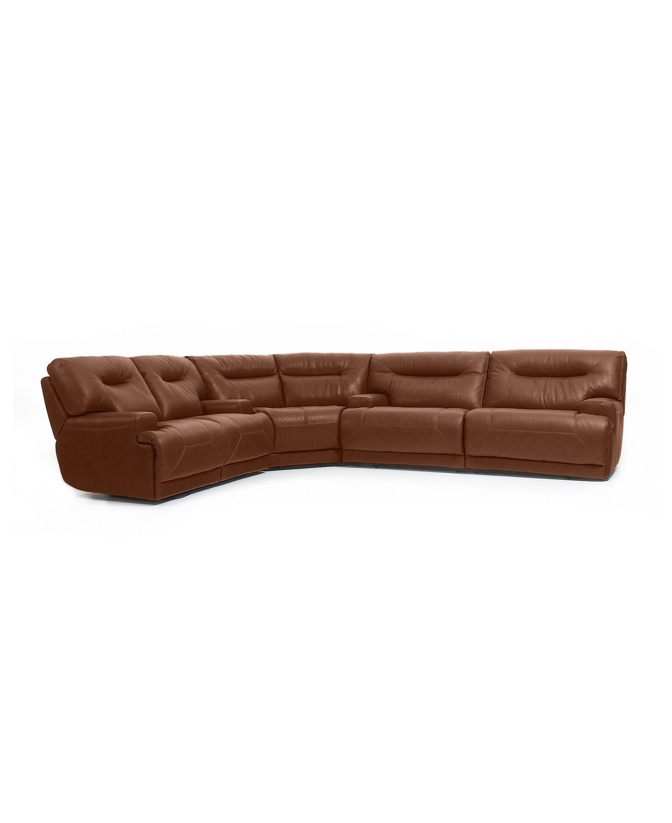 Ricardo Leather Reclining Sectional Sofa 3 Piece Power Recliner