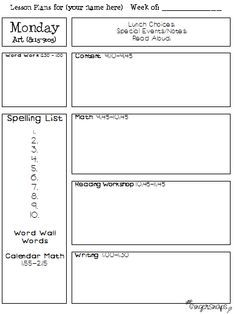 1000+ images about School - Lesson Planning on Pinterest | Lesson ...