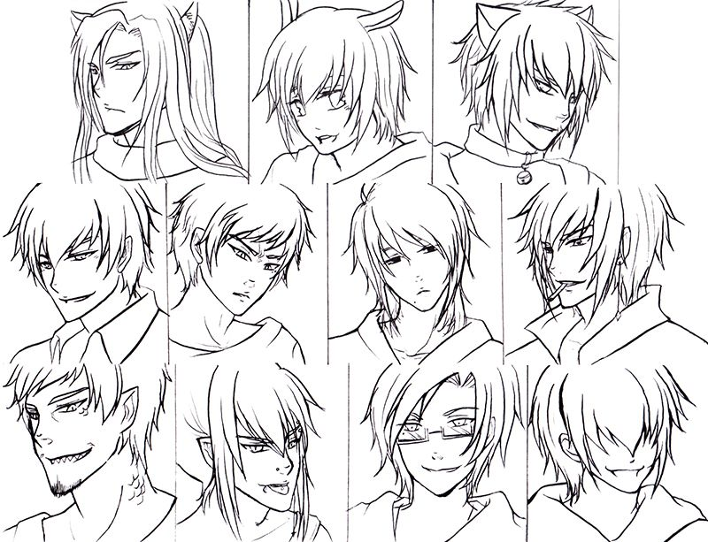 Wondrous Anime Hairstyles For Guys 486963 800613 Drawing Pinterest Hairstyles For Women Draintrainus