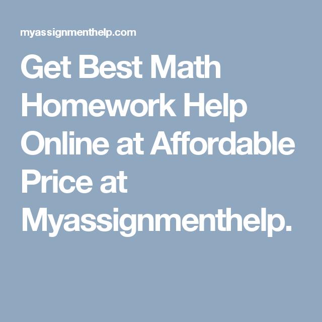Get Best Math Homework Help Online at Affordable Price at ...