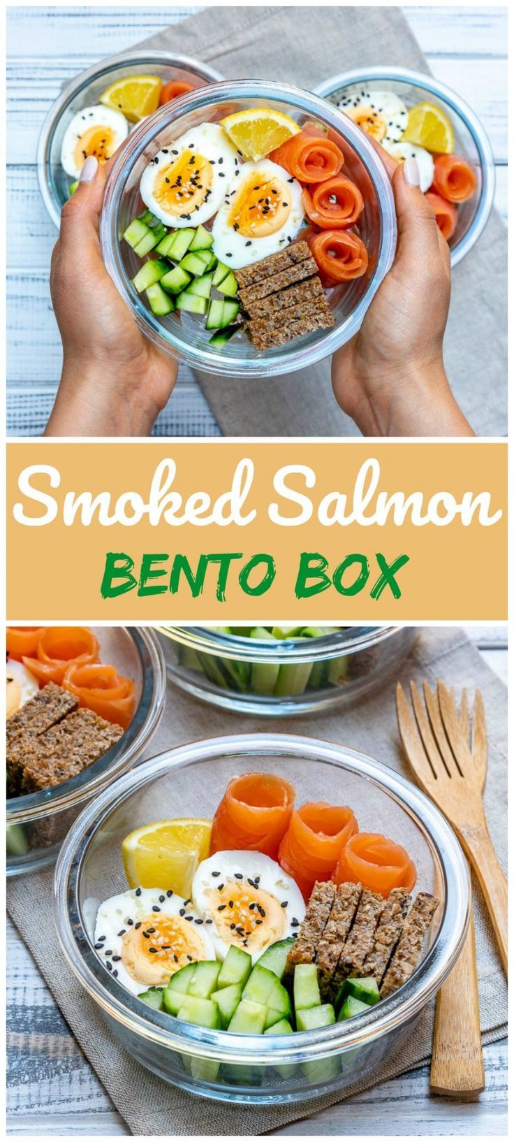 On-the-go Smoked Salmon Protein-Packed Bento Boxes!