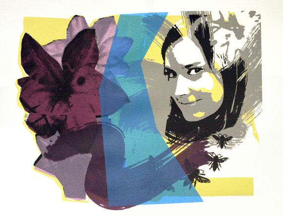 Original Screen Prints - Marc Lawrence Art | Yellow Blue Green ...